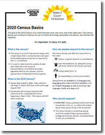 Factsheet on 2020 Census Basics