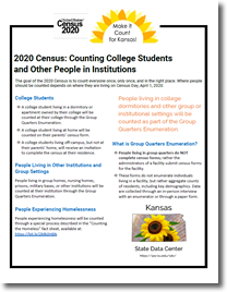 Factsheet on 2020 Census: Counting College Students and Others in Group Settings