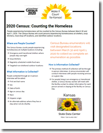 Factsheet on 2020 Census: Counting the Homeless